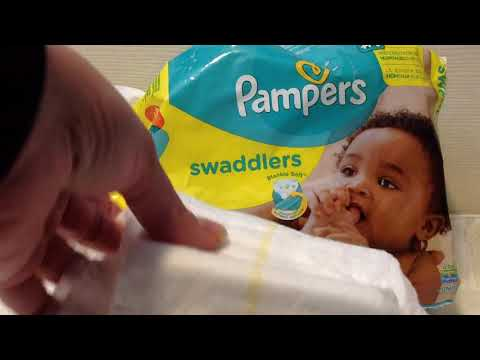 Pampers Swaddlers Size 3, 27 Count Baby Diapers Jumbo Pack Video Review