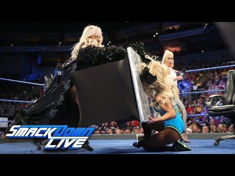 charlotte flair and carmella sign contract for their match a