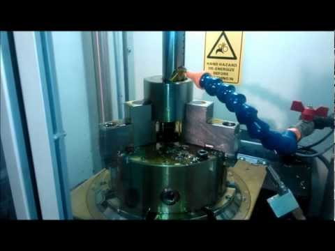 Broaching splines on a P10-200 NC