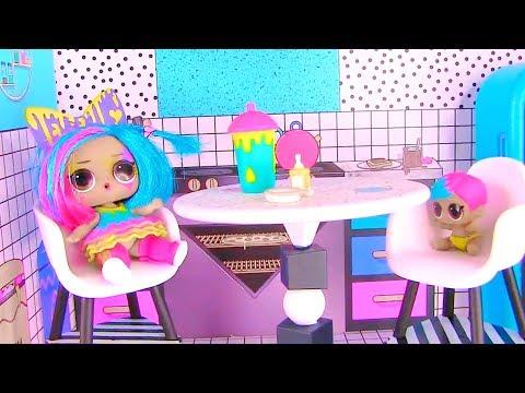 Куклы Лол Сюрприз! Завтрак с Плей До и урок рисования Lol мультик! Видео для детей Shopkins видео