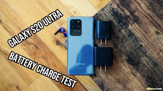 Samsung Galaxy S20 Ultra Battery Charge Speed TEST!