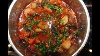 Настоящий Аджапсандали  (აჯაფსანდალი)  - вкуснейшее грузинское блюдо из баклажан.