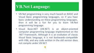 VB.Net programming Part 1