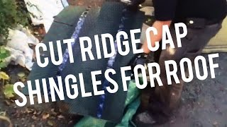 How to Cut Install Ridge Cap Shingles on Roof House Shed Garage Barn