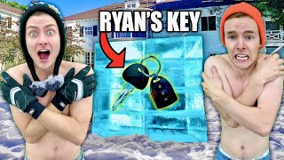 I Froze Ryan's Car Keys in Ice!!