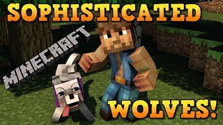 Minecraft: BEST WOLF EVER!  Sophisticated Wolves Mod Showcase!
