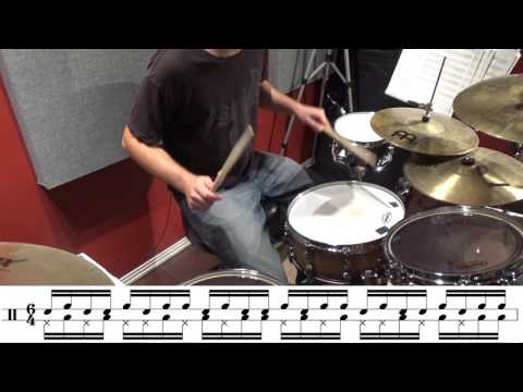 Really short coordination exercise using paradiddles and double paradiddles!