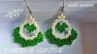 💝Sweet & Simple Beaded Earrings    DIY SEED BEAD EARRINGS (0229)