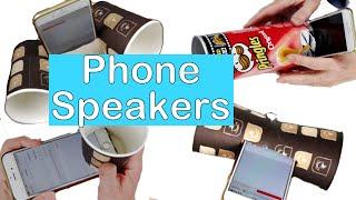 6 phone speaker ideas DIY