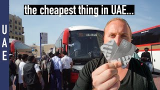 How To travel in UAE   Dubai to Abu Dhabi by Bus (using the NOL card)