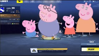 peppa pig plays fortnite