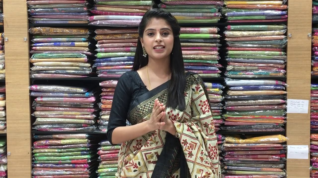 "<p style=""color: red"">Video : </p>Jute Chenderi Sarees Collections In Low Price 