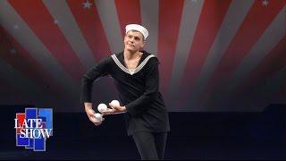 Juggler Alexander Koblikov Performs
