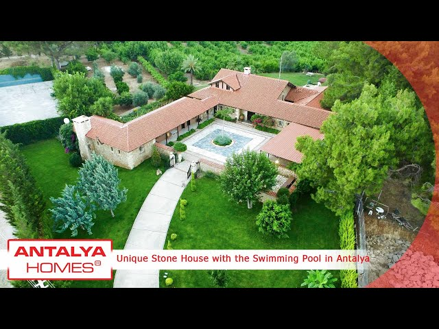 Unique Stone House with the Swimming Pool in Antalya