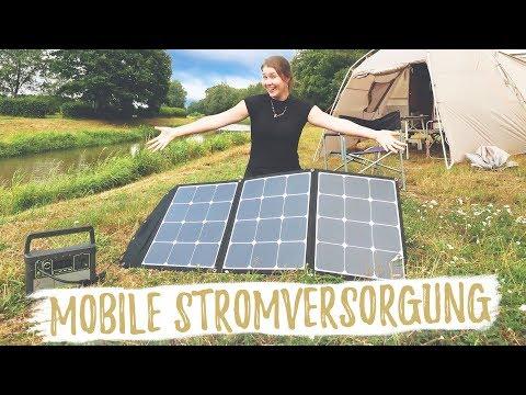 UNSERE STROMVERSORGUNG UNTERWEGS | Autark mit mobiler Solaranlage
