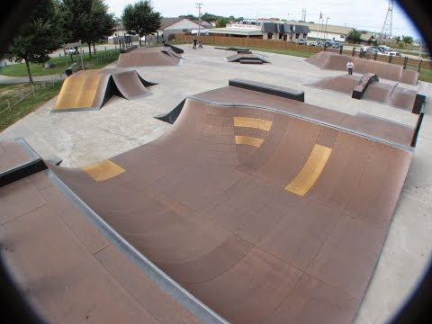 Rockford Skatepark Walk Through.  Skateworks Machesney Park