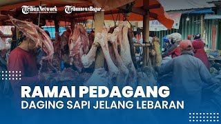 Jelang H-3 Lebaran, Pedagang Daging Sapi Ramai di Jalan Raya Bojonggede
