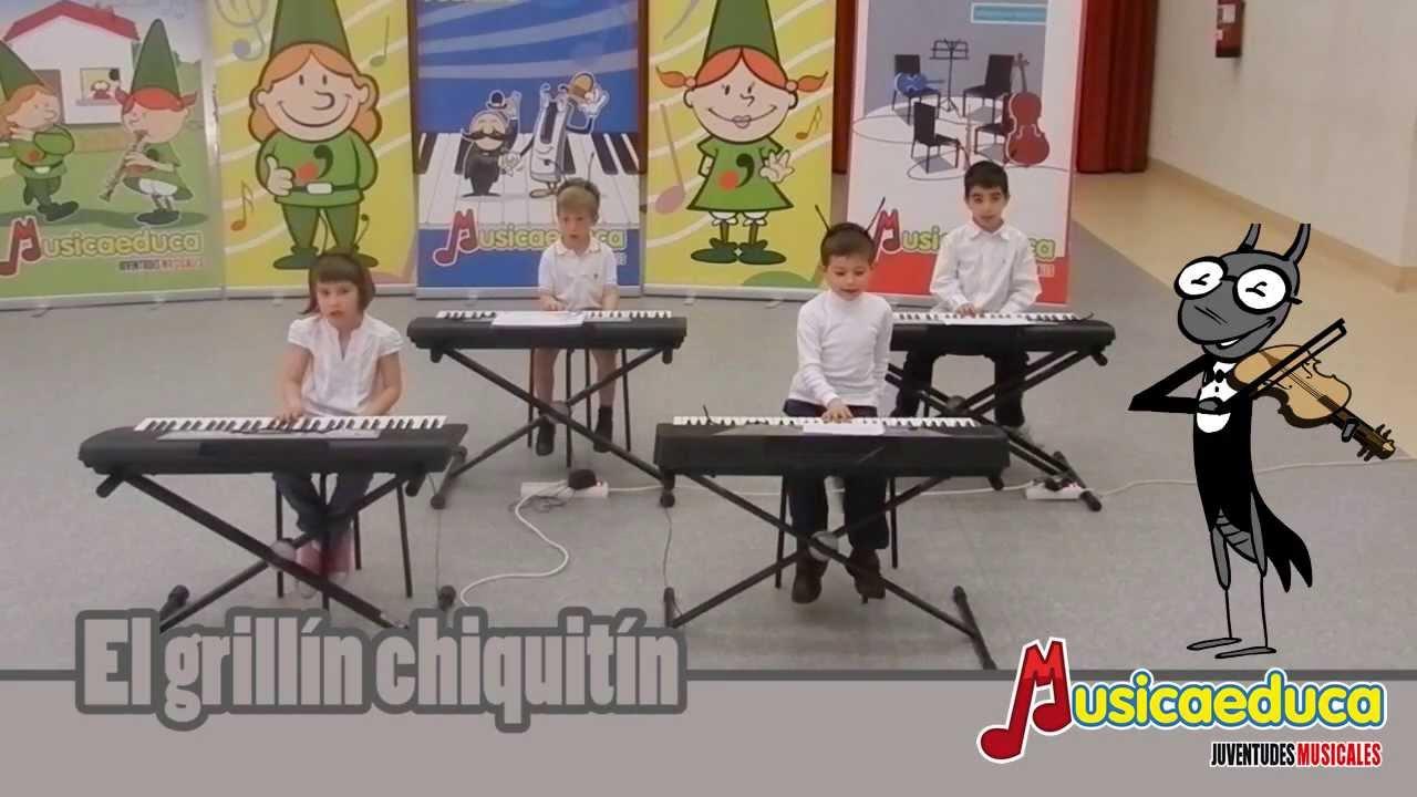 El grillín chiquitín - Grupo de alumnos de Mi teclado 1