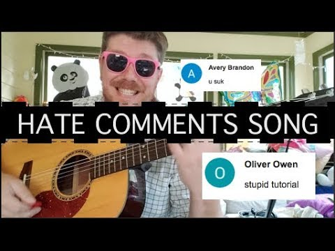 I Wrote a Song Using Only Hate Comments