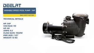 Variable Speed Pool Pump - 1HP