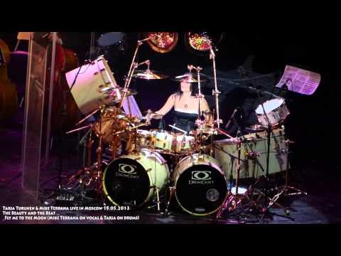 Fly me to the Moon - Mike Terrana on vocal & Tarja Turunen on drums