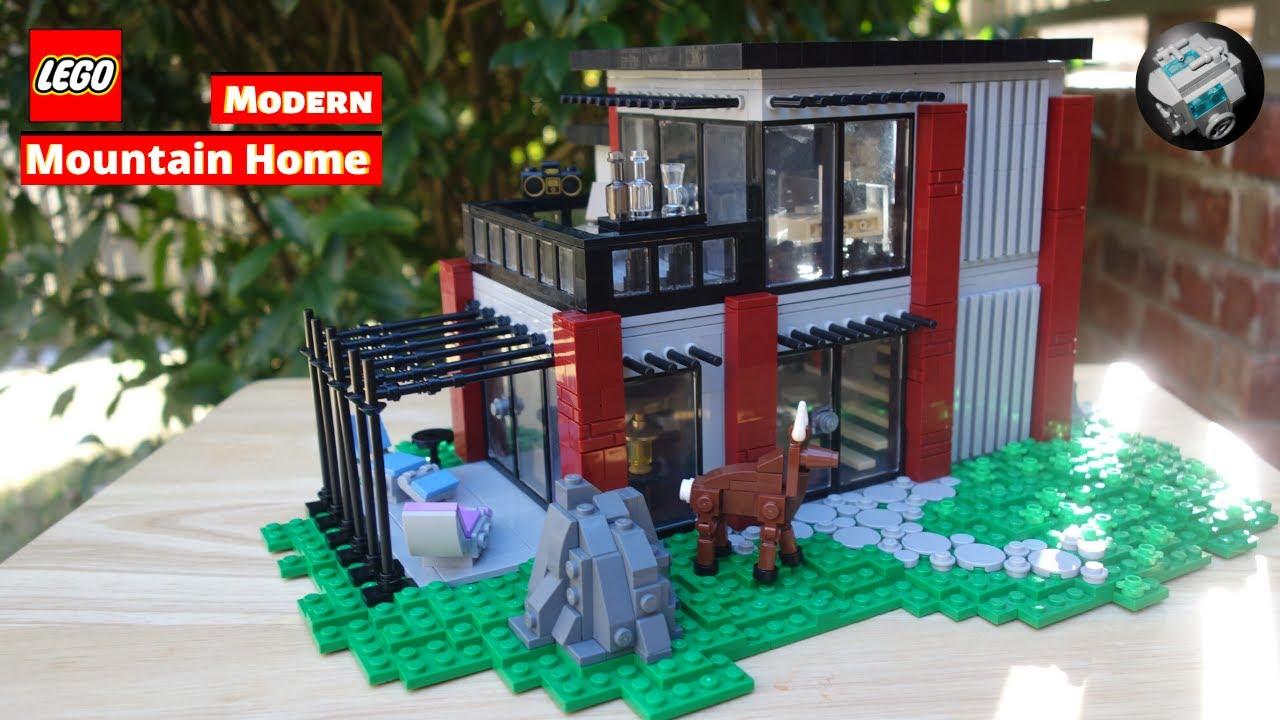 LEGO Modern Mountain Home   MOC Walk-through