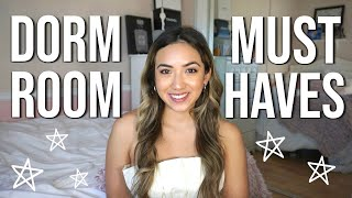 COLLEGE DORM ROOM MUST HAVES!! // DORM ESSENTIALS