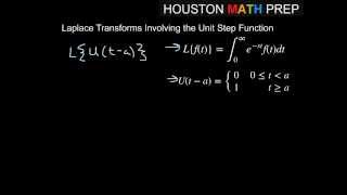 Laplace Transforms with Unit Step Functions
