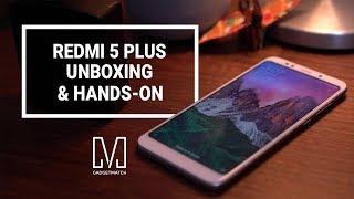 Xiaomi Redmi 5 Plus Unboxing and Hands-on (Xiaomi Redmi Note 5)