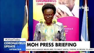 Hon. Minister Jane Ruth Acheng Addressing the Public on the update of Coronavirus