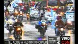 C5N EL ADIÓS A NÉSTOR KIRCHNER EL CORTEJO