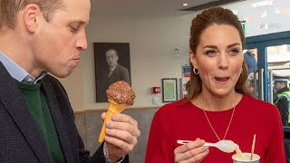 video: Duchess of Cambridge surprised by her primary school teachers during visit to Welsh ice cream parlour