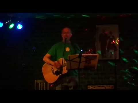"Performing my new song ""Delaware Bay"" at Elkton's Gracie's Cafe - early May 2014"