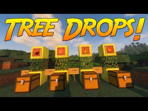 Simple Tree Drops! [Minecraft 1.12] | Mod Showcase!
