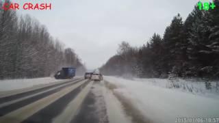 Подборка занесло на скользкой дороге 2016