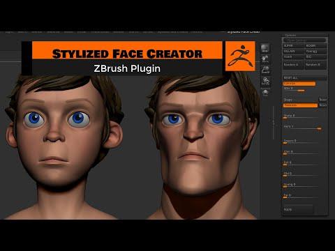 Stylized Face Creator - ZBRUSH PLUGIN