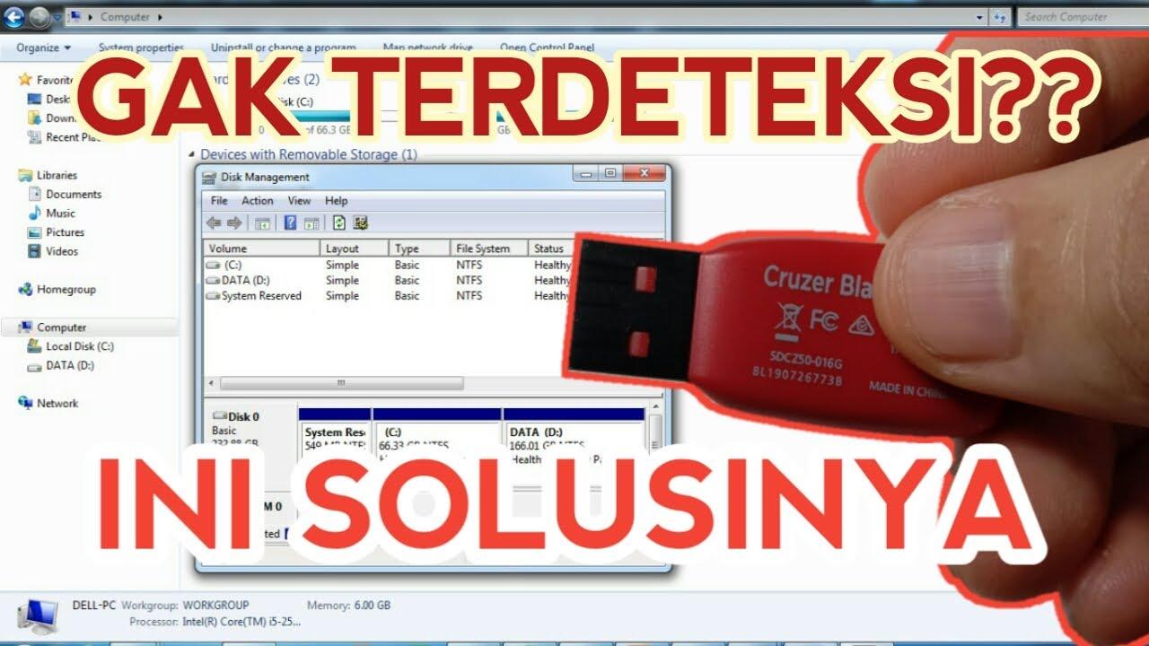Cara Ampuh Mengatasi Flashdisk yang Tidak Terbaca di Laptop/PC