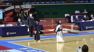 결승 최현준 vs 배용한 [2021 검도왕 초등부   검도V]