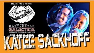 """Battlestar Galactica Bear McCreary plays with Katee Sackhoff """"All Along The Watchtower"""" Live"""