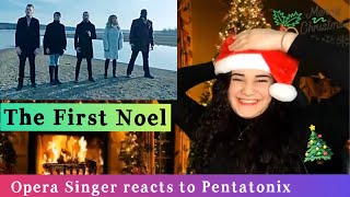 Opera Singer Reacts to Pentatonix - The First Noel [Official Video]