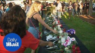 Texas community holds vigil for Santa Fe school shooting victims - Daily Mail | Kholo.pk