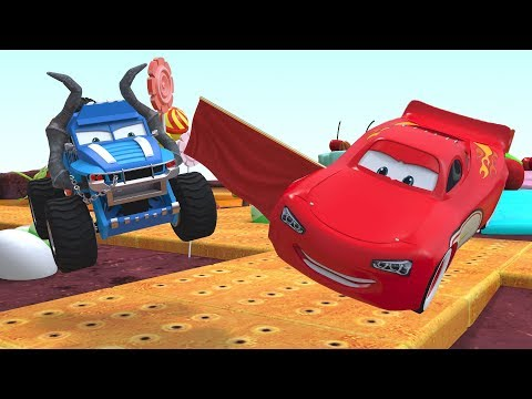 Disney Pixar Lightning Mcqueen Cars Animation Monster Truck Cartoon For Kids
