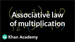 Associative Law of Multiplication