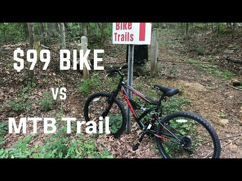 $99 Walmart Mountain Bike can't handle MTB trail – Hyper Shocker 26 Dual Suspension