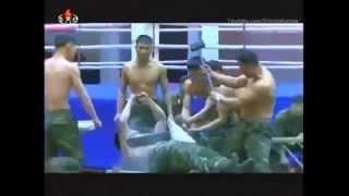Показательное выступление спецназа КНДР