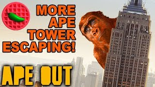 NO TOWER CAN HOLD THE MEGA-APE! -- Let's Play APE OUT (Steam PC Gameplay)