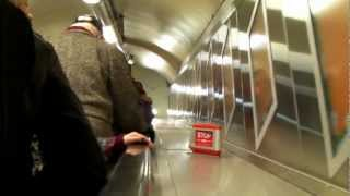 preview picture of video 'oxford circus tube station going up escalator'
