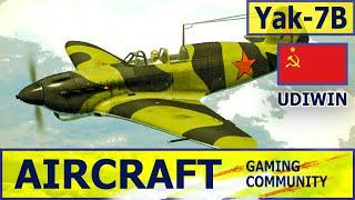 Як-7Б с двигателем М-105ПА представлял собой дальнейшее развитие серийного Як-7А и  отличался от него более мощным вооружением и аэродинамическими усовершенствованиями.  Вооружение Як-7Б состояло из мотор-пушки ШВАК с боезапасом 120