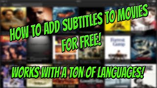 [OLD] How To Add Subtitles To Movies For Free! Works With A TON Of Languagues! [iOS]