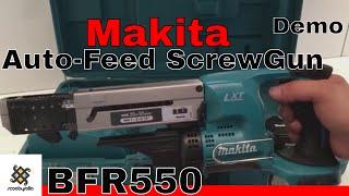Makita 18V Cordless Auto-Feed Screwdriver BFR550 & Demo